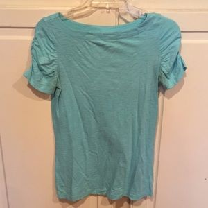 Lily Pulitzer light blue short sleeve top.